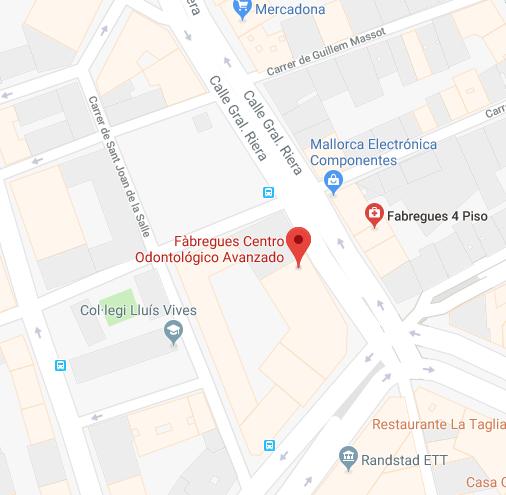 Calle General Riera 3 , 4º · Palma de Mallorca, Centro Odontológico Fabregues